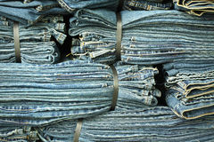 Binded blue Jeans Royalty Free Stock Photo