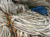 Binded ropes avec bleu et jaune et noir photo stock