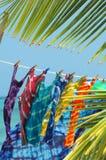 Binden-färben Sie T-Shirts für Verkauf Lizenzfreies Stockbild