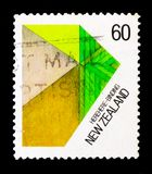 Binden, Maori Fibrework-serie, circa 1987 lizenzfreie stockbilder