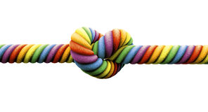 Binden Sie die Knoten-homosexuelle Ehe lizenzfreies stockfoto