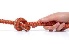 Binden Sie einen Knoten. lizenzfreie stockfotos