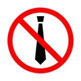 Binden Sie Ikone im roten Kreis des Verbots, Stoppschild Keine Geschäftsart Lizenzfreie Abbildung