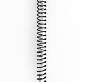 Binder. 3d image of detail of empty binder stock illustration