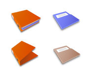 Binder. Icons representing a binder that contains documents and/or folders Stock Image