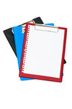 Binder with black sheet isolated Royalty Free Stock Photo