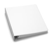 Binder Blank. File Folder Binder with Copy Space Isolated on White Background Stock Photo