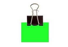 Binder clip Royalty Free Stock Photo