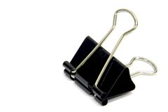 Binder Clip. Close-up of binder clip Stock Photos