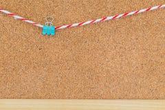Binder clip on cork board Stock Images