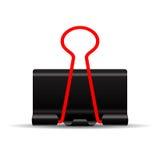 Binder clip illustration Stock Image