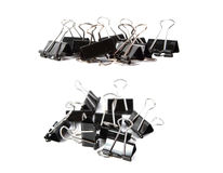 Binder clip on white Royalty Free Stock Images