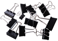 Binder clips Royalty Free Stock Photos