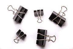 Binder clips Stock Images