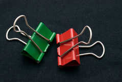 Binder clips Royalty Free Stock Image
