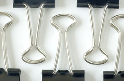 Binder clips Stock Image
