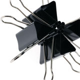 Binder clips abstract stock image