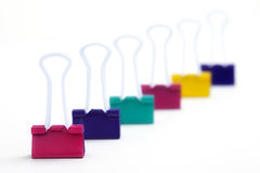 Binder Clips Royalty Free Stock Photo