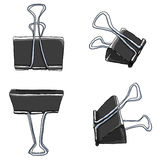 Binder Clips Paper Clips Durable Office Paper File Organize. Art Binder Clips Paper Clips Durable Office Paper File Organize photo clip holder office accessories Royalty Free Stock Photo