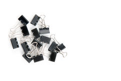 Binder clips/paper clips isolated on white. Stock Image