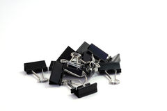Binder clips pile Stock Photography