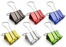 Binder clips set. Stock Image