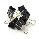Binder clips. On white background Stock Image