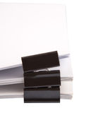 Binder Clips And White Paper IV Royalty Free Stock Image
