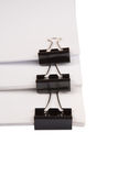 Binder Clips And White Paper VII Stock Images