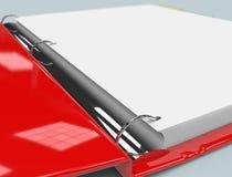 Binder Close Up. Close up of red binder Stock Photos