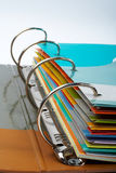 Binder closeup with files stacked royalty free stock images