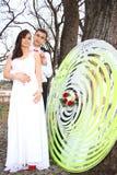 binder crystal smycken för parcravaten bröllop Arkivfoto