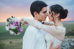 binder crystal smycken för parcravaten bröllop Royaltyfria Foton