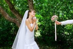 binder crystal smycken för parcravaten bröllop arkivbild