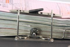 Binder and documents Stock Photography