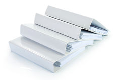 Binder documents in stack Stock Photos