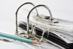 Binder with files Stock Image