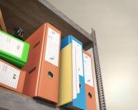Binder and folder. 3d rendering Stock Photos