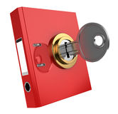 Binder folder locked Royalty Free Stock Photos
