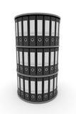 Binder folders in shelf. Stock Images
