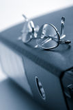 Binder and glasses Royalty Free Stock Image