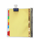 Binder and Metal Clips Royalty Free Stock Photos