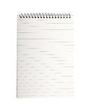 Isolated note book empty page lined writing line pad on white background spiral binding notebook notes paper notepad write memo Royalty Free Stock Photography