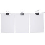 Binder paper with a rope. Isolated render on a white background Stock Photography
