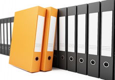 Binder row on a white background Royalty Free Stock Images