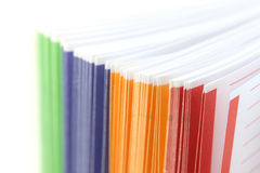 Binder separators Royalty Free Stock Image