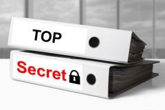 Binder top secret documents lock symbol Royalty Free Stock Photos