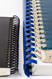 Binders. Three different binders on a white background Royalty Free Stock Photo