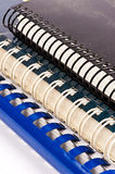 Binders. Three different binders on a white background Stock Images