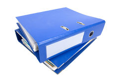 Binders. Blue binders isolated on white Stock Photography